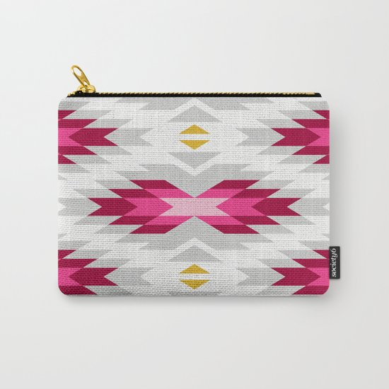 Tribal pattern - grey and pink Carry-All Pouch