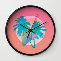 miami Wall Clocks featuring MIAMI by DIVIDUS