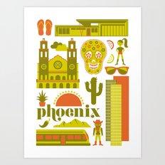 Phoenix in Chartreuse Art Print