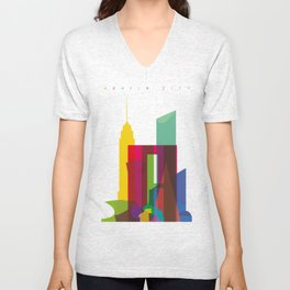 Shapes of Mexico City accurate to scale Unisex V-Neck