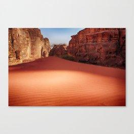 Wadi Rum desert in Jordan Canvas Print