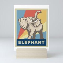 Vintage Retro African Elephant Awareness Gift Mini Art Print