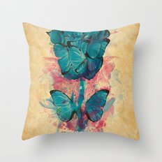 Butterfly Rose Throw Pillow