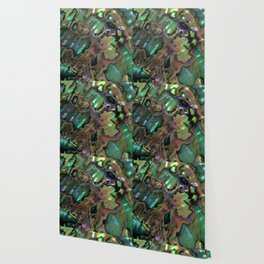 Oil Slick Abalone Mother Of Pearl Wallpaper