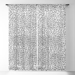 Black and White Snow Leopard Sheer Curtain