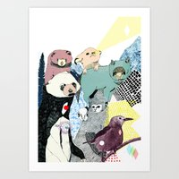 breathe Art Prints featuring Breathe by Julia Pott