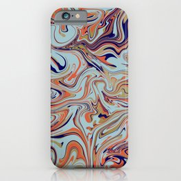 Abstract liquified art iPhone Case