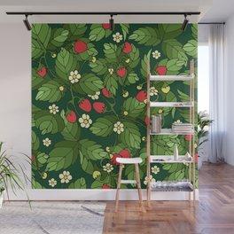 Strawberry pattern Wall Mural