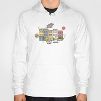 brussels Hoodies featuring Brussels buildings by zldrawings