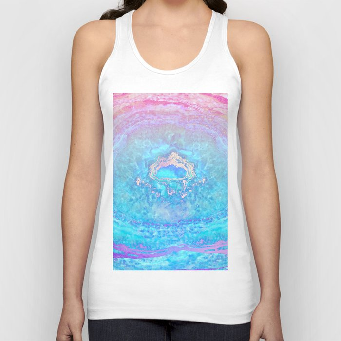 Ether Agate Geode Unisex Tank Top