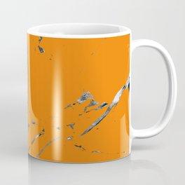bold orange marble texture Coffee Mug