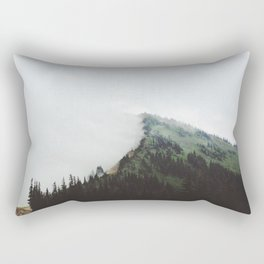 fogged mt. Rectangular Pillow