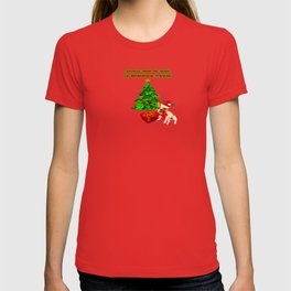 Joyeux Noel de Hugo le Bouledogue Francais T-shirt