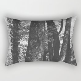 Black and White Trees Rectangular Pillow
