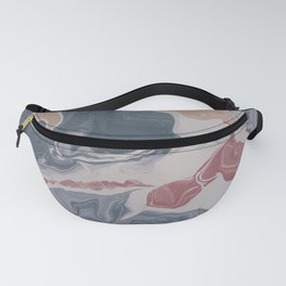Abstract Liquid Geode Fanny Pack