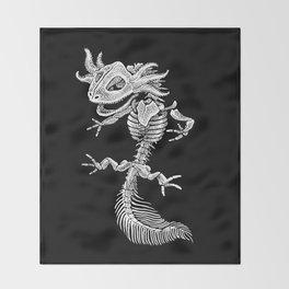 Axolotl Skeleton Throw Blanket