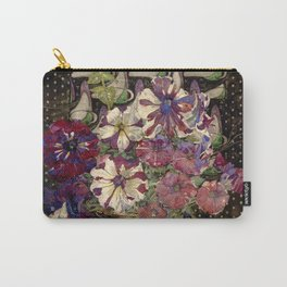 "Charles Rennie Mackintosh ""Petunias"" Carry-All Pouch"