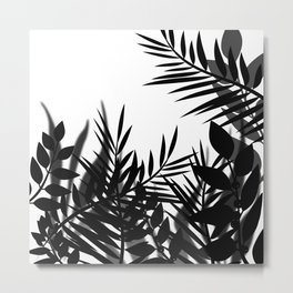 The leaves and berries. Black and white pattern . Metal Print