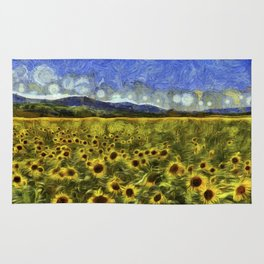 Sunflower Dreams Van Gogh Rug