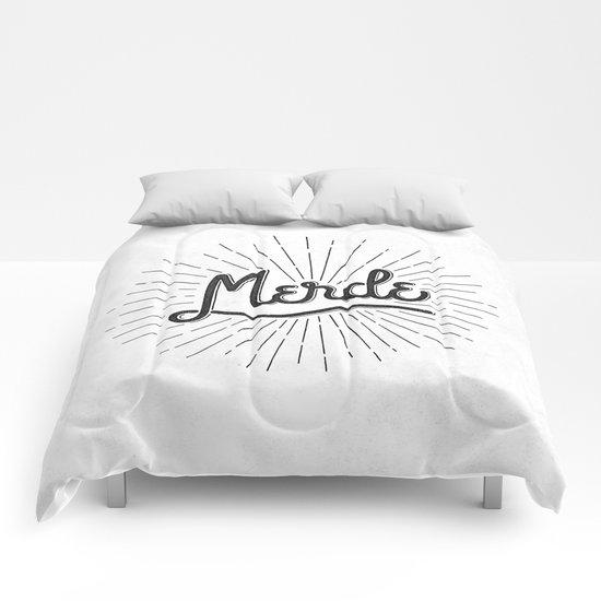 MERDE - BLANC Comforters