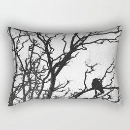 Rustic Crows Black Birds Tree Modern Cottage Chic Art A465B Rectangular Pillow
