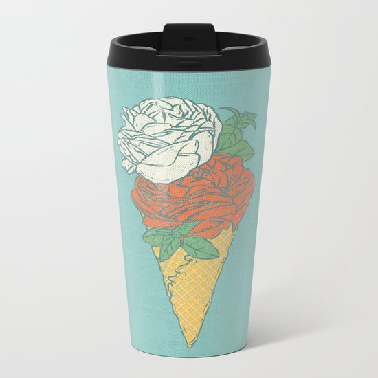 Rose ice cream Metal Travel Mug