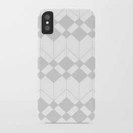 Abstract geometric pattern - gray and white. iPhone Case