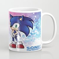 sonic Mugs featuring Sonic & Shadow by VayDemona