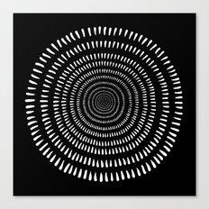 Fjorn black Canvas Print