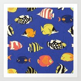 Exotic School Of Reef Fish Art Print