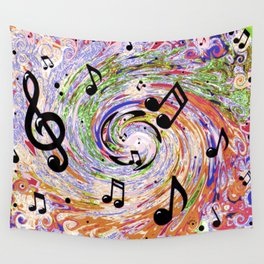 Music Notes Wall Tapestry