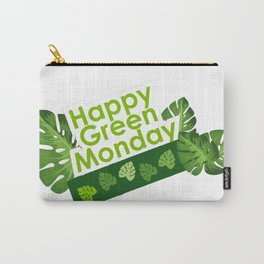 Happy leaves deco - Green Monday Carry-All Pouch