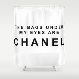 Designer eye bags Shower Curtain