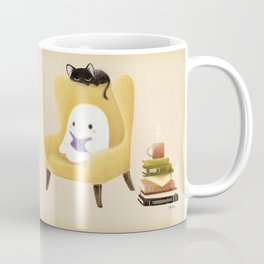 Ghost reading Coffee Mug