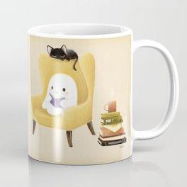 Ghost reading Coffee Mug