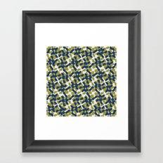 odrina (lime/navy) Framed Art Print