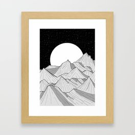 Big moon mounts Framed Art Print