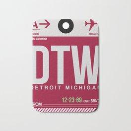 DTW Detroit  Luggage Tag 1 Bath Mat