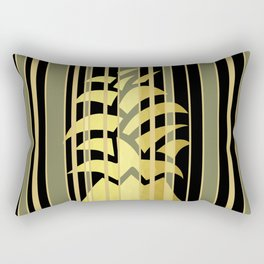 Pineapple And Stripes Rectangular Pillow