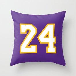 Mamba 24 Throw Pillow
