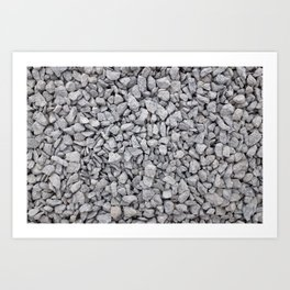 Cambrian green stone chippings Art Print