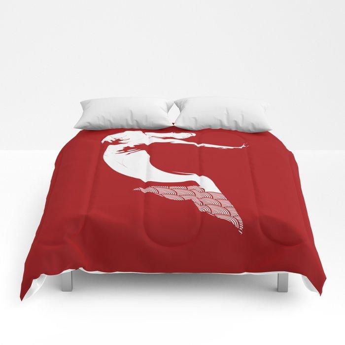 Merman - Red & White - Mermay 2019 Comforters