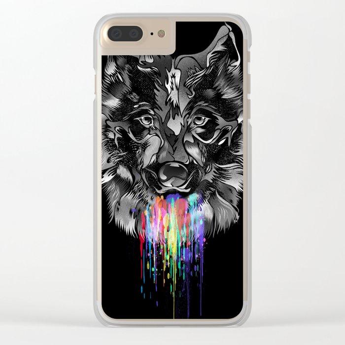 WILD WOLF Clear iPhone Case