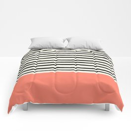 Coral x Stripes Comforters