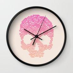 Labyrinthine Skull - Tropical Wall Clock