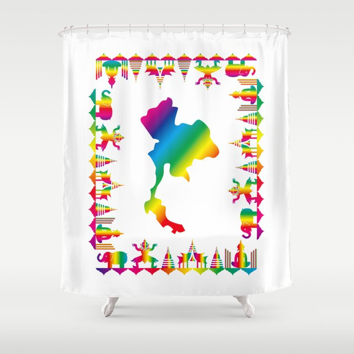 Rainbow Thailand Shower Curtain