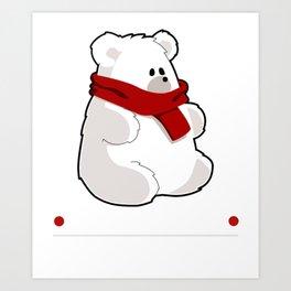 Polar Brrrr Cute Bear Pun Art Print