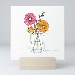 Jar of Flowers Mini Art Print