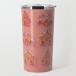 Gingerbread house pattern Travel Mug