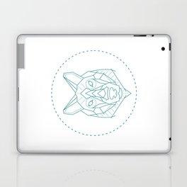 Geometric Blue Wolf Laptop & iPad Skin